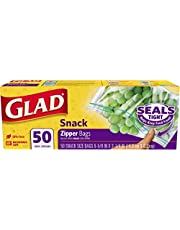 Glad Zipper Food Storage Snack Bags - 50 Count, Pack of 12 (Package May Vary)