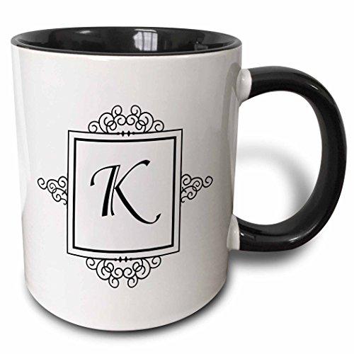 3dRose mug_154334_4 Monogrammed Typography Personalized