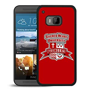 NCAA Sacred Heart Pioneers 6 Black HTC ONE M9 Protective Phone Cover Case