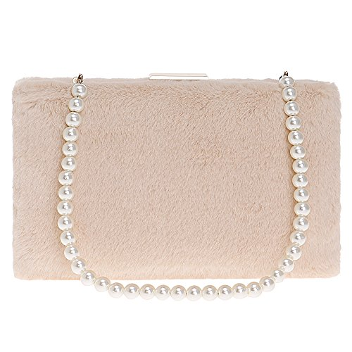 Suede Evening Ladies Dress Purse Wallet Womens Bag Clutches Wedding Beige Bags Chain Prom tqqw8ZS