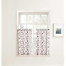 "No. 918 Forest Friends Animal Kitchen Curtain Tier Pair, 56"" x 24"", Ivory White"