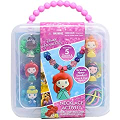 Design your very own Disney Princess necklaces with this fun Easy to use simply slide the beads and character charms through the silicone necklaces.Mix and match the colorful beads and character charms to create new looks over and over again!...