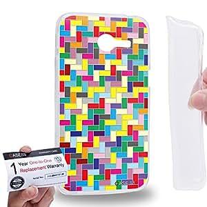 Case88 [Asus Zenfone 4 A400CG] Gel TPU Carcasa/Funda & Tarjeta de garantía - Art Design Rainbow Puzzle Tetris Art1808