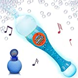 Light Up Musical Bubble Blower Wand by ArtCreativity 13.5 Illuminating Bubble Blower Wand w/ Thrilling LED and Music Sound Effect for Kids, Bubble Fluid - Batteries Included | Gift Idea/Party Favors
