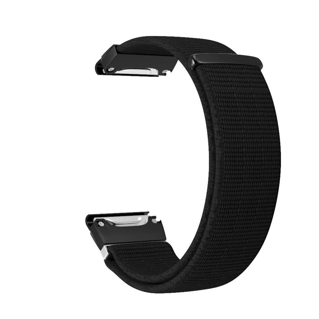 Quick Release Nylon Sports Loop Wristband Strap for Garmin Fenix 5//5 Plus Smartwatch YUYOUG for Garmin Fenix 5//5 Plus Bands
