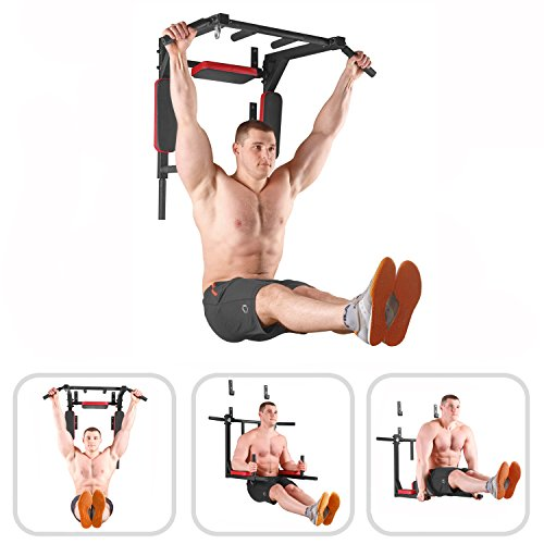 Wall Mounted Pull Up Bar - Pullup Bar Wall Mount - Chin Up Bar - Pull Up Bars and Dip Bar - Pullup and Dip Bar - Dip Station Pull Bar - Pullup Bars Outdoor and Home Room or Garage Gym Multi Grip - Pul by BAR2FIT QUALITY SPORTS EQUIPMENT (Image #1)