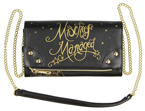 Harry Potter Mischief Managed Foldover With Chain Strap Wallet from Bioworld