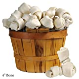 Bulk White Rawhide Bones 4″ Bones 100 pack For Sale