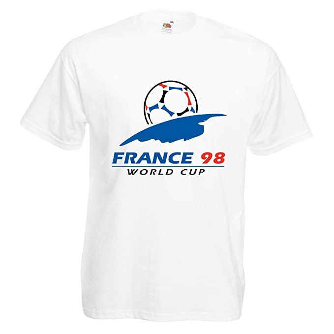 1d4844adb Men's World Cup France 98 T-Shirt: Amazon.co.uk: Clothing