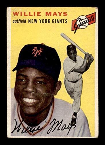 #90 Willie Mays HOF - 1954 Topps Baseball Cards Graded VG - Baseball Slabbed Autographed Vintage Cards
