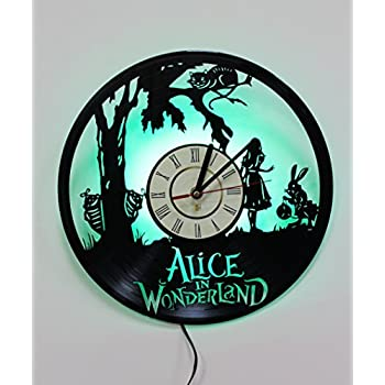 Amazon night light led light wall lamp alice in wonderland night light led light wall lamp alice in wonderland wall clock cool aloadofball Image collections