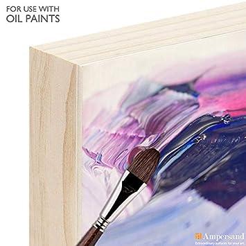 Ampersand Art Supply Unprimed Basswood Artist Panel 7//8 Cradled Profile 10x10,