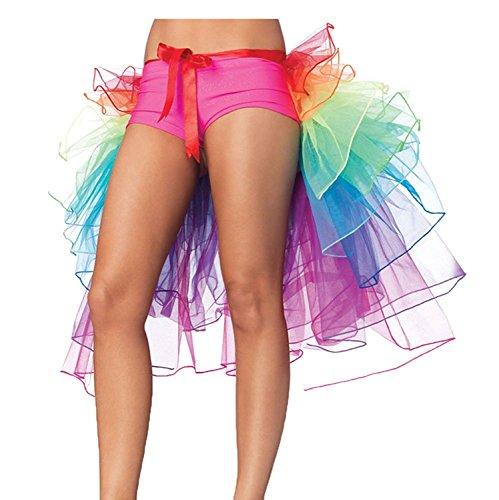 NAVAdeal Organza Teen & Adult Rainbow Dance Bustle Costume