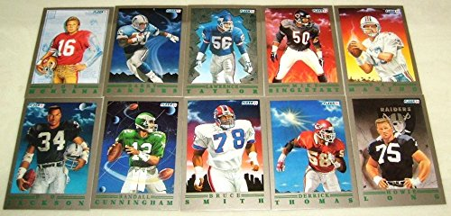 (1991 Fleer Provision Football Complete 10 Card Set Including Joe)