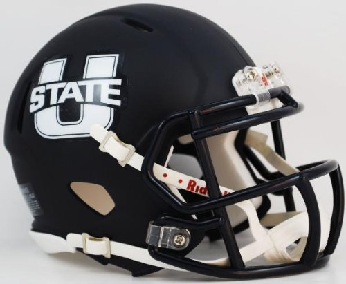 Riddell NCAA Utah State Aggies Alternate Navy Speed Mini Helmet