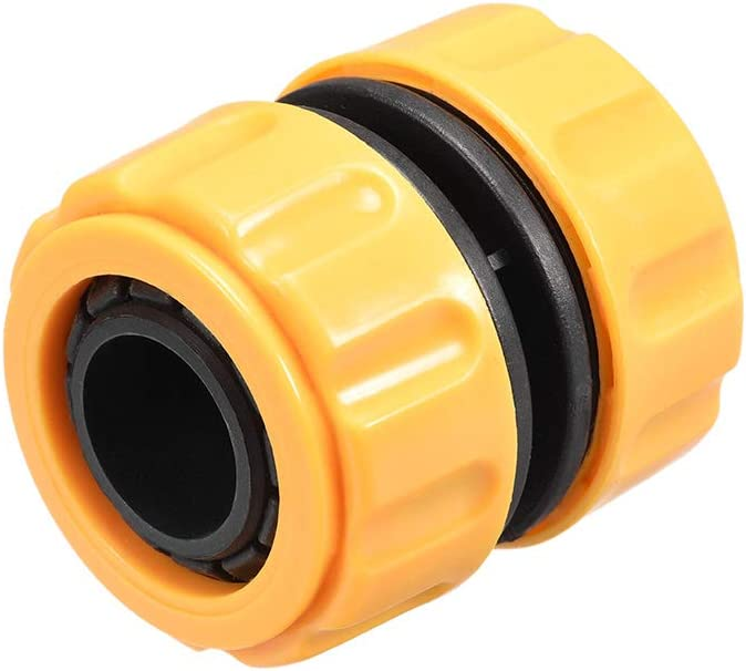 uxcell Garden Water Hose Connector 1-inch ID Plastic Quick Connect Fittings Joiner Mender Extend Repair Connector Adapter Tool