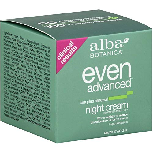 Alba Botanica Even Advanced Sea Plus Renewal Night Cream, 2 oz (Pack of 2) Alba Sea Plus Renewal Cream