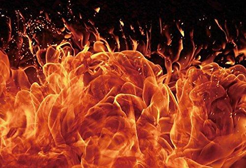 Yeele 7 x 5ft Fire Flames Backdrop Blaze Blazing Boy Heroホーム写真背景新生児赤ちゃん大人用Girl Boy Portraitパーティー写真ブースビデオ撮影ビニール壁紙Studio Prop   B07DC1ZJR6