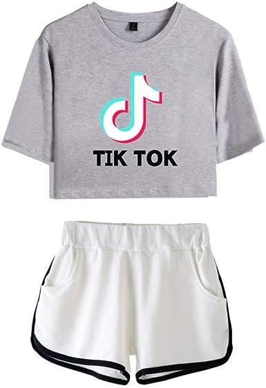 TINGTING Camiseta y Pantalones Cortos TIK Tok-Camiseta y Pantalones Cortos TikTok for Adultos y niños, Camiseta y Pantalones Cortos Music TikTok (Color : #15, Size : XXL): Amazon.es: Ropa y accesorios