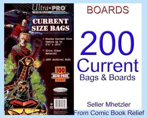 200 BCW CURRENT MODERN COMIC BAGS AND BOARDS