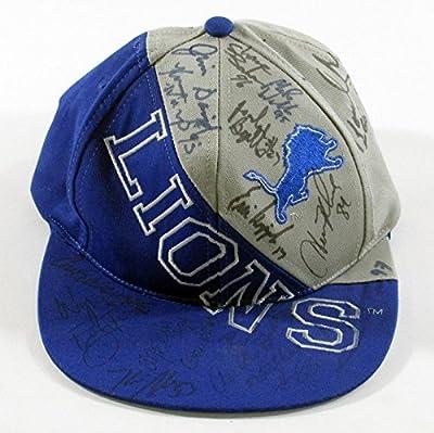 1990's Detroit Lions Signed / Autographed Hat - 19 Autos - Hipple Wells Rivers - Autographed NFL Hats