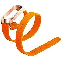 Cooljun Compatible avec Xiaomi Mi Band 3,Bracelet de Montre de Rechange en Silicone Souple Double Cercle