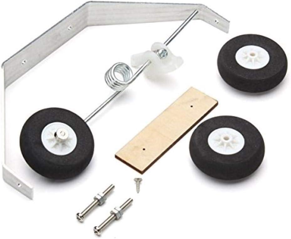 SUCAN Aleación de Aluminio Taildragger Triciclo de Aterrizaje con Anillo de Acero Rueda de Cola - Engranaje del Triciclo