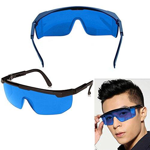 Schutzbrille - 12 Packung Laserbrillen Schutzbrillen Zum Schutz der Augen mit Blauen Schutzlinsen -Linsen, Gumminase und Ohrbü gelhaken/Ohrhaken fü r Festen Sitz an den Ohren, Blau Getö nte Brille gegen Grü ne und Blaue Laserstrahlen Ku