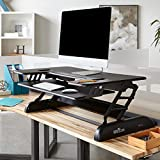 VARIDESK - Height-Adjustable Standing Desk for Cubicles - Cube Plus 40 - Black