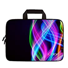 "iColor Colorful 9.7"" 10"" 10.1"" 10.2"" Tablet Laptop Neoprene Carrying Bag Sleeve Briefcase Pouch Handle Bag Tote for iPad Air, Kindle Fire HD 10, Lenovo Yoga book, 10.1 Toshiba Encore 2, PolaTab Q10.1, Dell Inspiron Mini 10 IHB10-04"