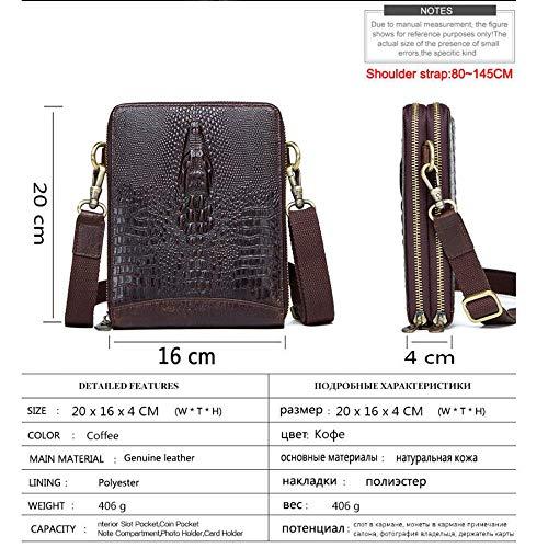 Bolso Hombres para Haixin cocodrilo Textura pequeña Bandolera con Bandolera Cuero Multifuncional de Rxw0d8qwS