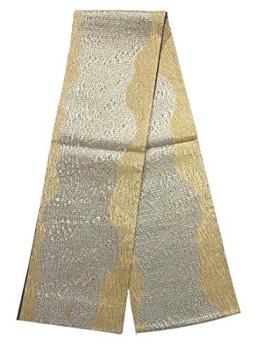 読みやすい文明化所持リサイクル 全通 袋帯 流水文 金銀糸 正絹