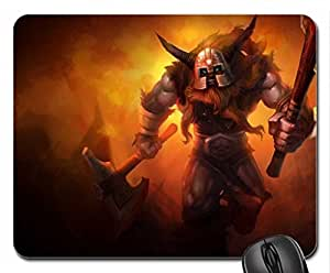 Olaf - The Berserker Mouse Pad, Mousepad (10.2 x 8.3 x 0.12 inches)