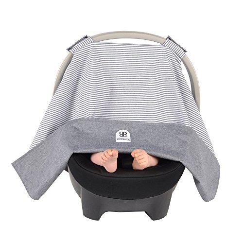 Balboa Baby Reversible Car Seat Canopy - (Denim Infant Car Seat Cover)