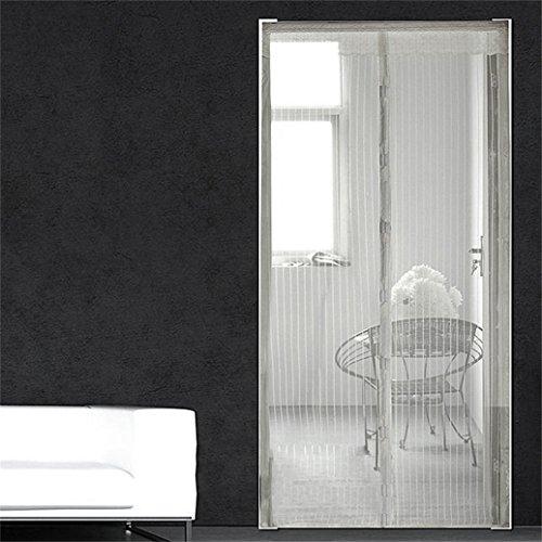 Gilroy Malla manos libres Puerta de visualización magnética anti mosquito Bug neta cortina para puerta Home Decor