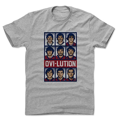 500 LEVEL's Alex Ovechkin Cotton T-Shirt XXL Heather Gray - Washington Hockey Fan Gear Officially Licensed by the NHL Players Association - Alex Ovechkin Ovilution RB