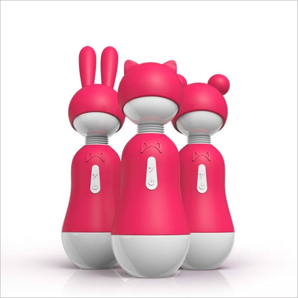 CS Cute Female Vibrating Massage Stick Female Milk Clip Flirting Supplies Three Headgear