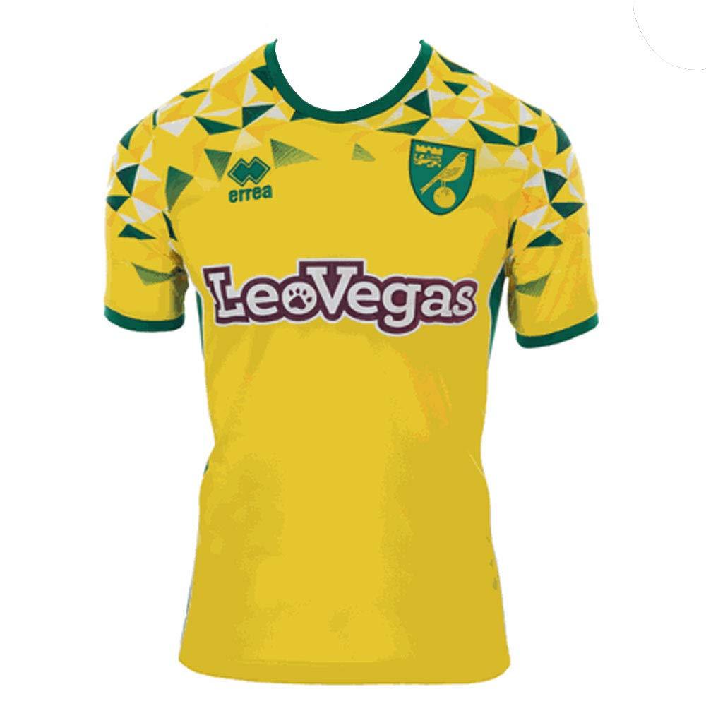 Errea 2018-2019 Norwich City Home Football Soccer T-Shirt Trikot