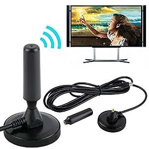 ARBUYSHOP cubierta Ganancia 30dBi Digital DVB-T / FM Antena TDT aérea PC para la televisión de alta definición de TV de la venta caliente de la promoción