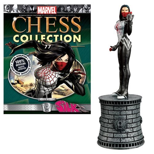 Marvel Silk Weiß Bishop Chess Piece with Collector Magazine