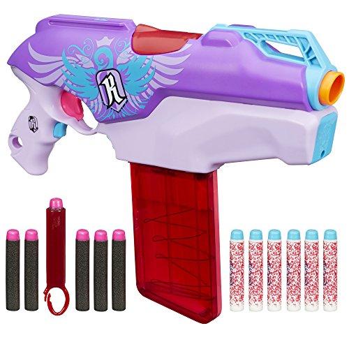Hasbro Jouet Nerf Rebelle–Secrets et espions–Conversion Rouge motorisé Blaster avec 12fléchettes