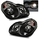 SPPC Projector Headlights Black For Mercedes-Benz C Class W203 - (Pair)