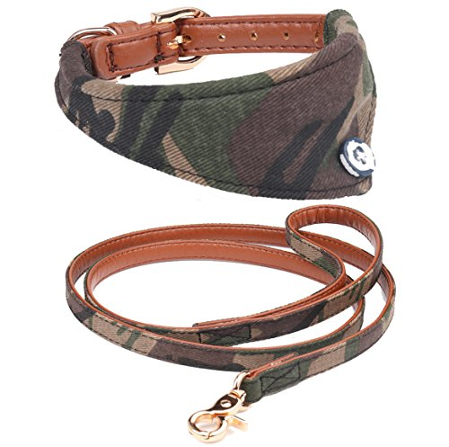 Fourhorse Small Dog and Cat Collars with Cute Flowers Bandana, Adjustable Buckle Soft and Comfortable
