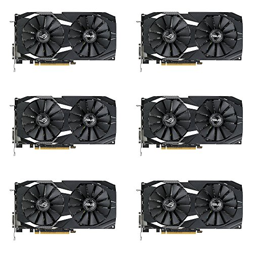 6 Packs of ASUS Radeon RX 580 8GB Dual-fan OC Edition GDDR5 DP HDMI DVI VR Ready AMD Graphics Card (DUAL-RX580-O8G)