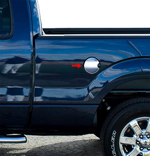 Chrome Trim Fuel Tank Cover - Tyger Auto Made in USA! Works with 2009-2014 Ford F150 Gas Cap Chrome Stainless Steel Fuel Cover