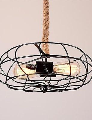 Vintage American Lron Rope Creative Industrial Fan Chandelier Lighting Fixtures Pendant Ceiling Lights Pendant Lights 2