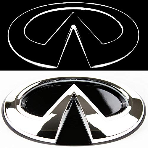 JetStyle Infiniti Q50 LED Emblem, Chrome Silver, Front Car Grill Badge, Auto Illuminated Logo, Glowing, Lights DRL Daytime Running Lights White - Drive Brighter
