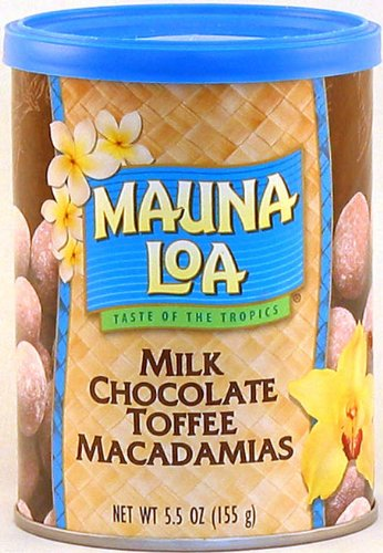 Mauna Loa Milk Chocolate with Toffee and Macadamias, 5.5-Ounce Can (Pack of 3) ()