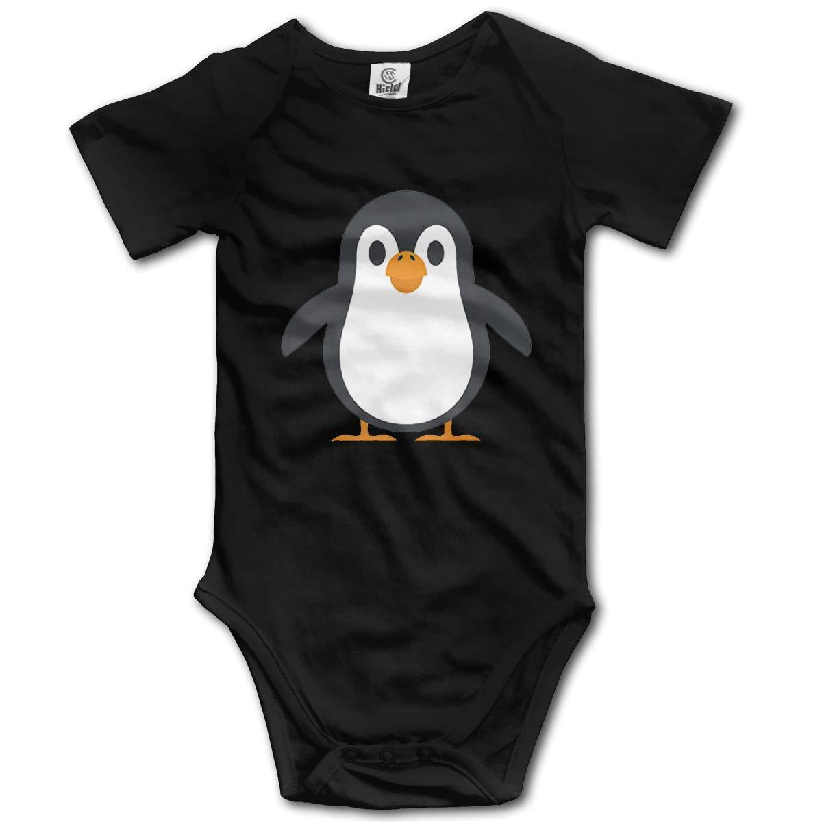Cute Penguin Baby Girls Short Sleeve T-Shirt Help Shirt