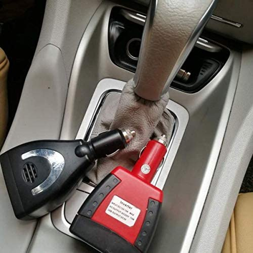 150W Car Power Inverter 12V DC to 110V AC Converter with USB Port and AC Outlet-Ultra Compact Size Potable Car Power Charger